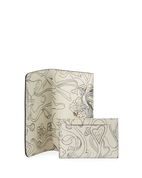 Glace Rabbit Long Calf Wallet