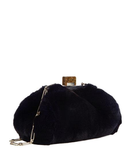 Small Parker Rabbit-Fur Clutch Bag