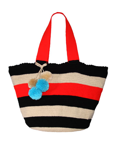 Jonas Striped Tote Bag