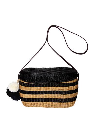 Costello Striped Raffia Shoulder Bag