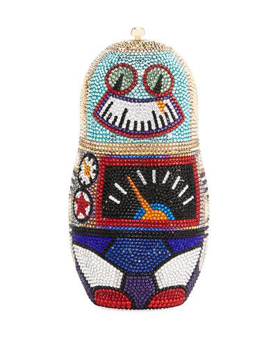 Robot Russian Doll Clutch Bag