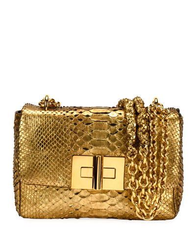 Natalia Python Chain Shoulder Bag