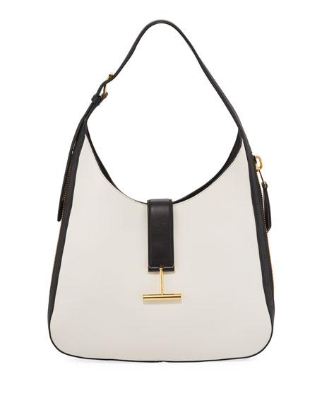 Tara Bicolor Soft Calf Shoulder Hobo Bag