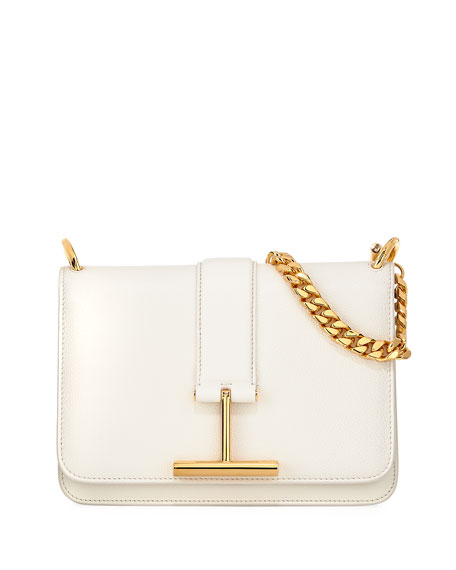 TOM FORD Tara Chain Grain Leather Shoulder Bag