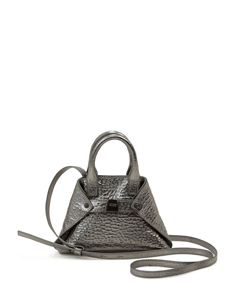 Ai Micro Hammered Leather Crossbody Bag