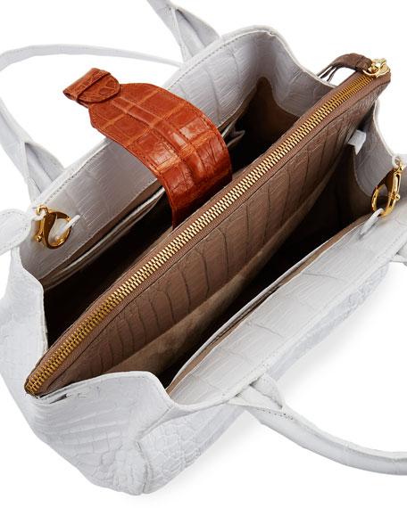 Cristina Medium Crocodile Tote Bag