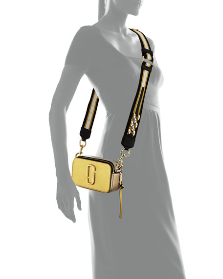 2ebadb97655 Marc Jacobs Snapshot Metallic Saffiano Leather Camera Bag