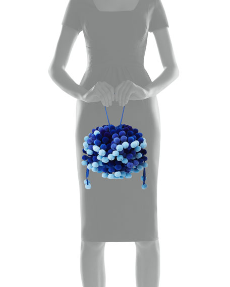 Charlotte Pompom Tote Bag