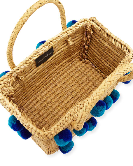Corfu Woven Reed Tote Bag