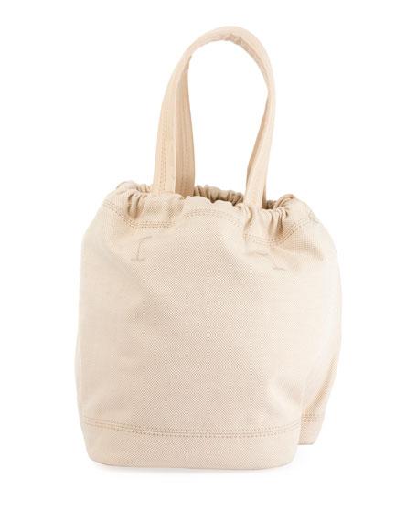 Medium Canvas Drawstring Pouch Bag