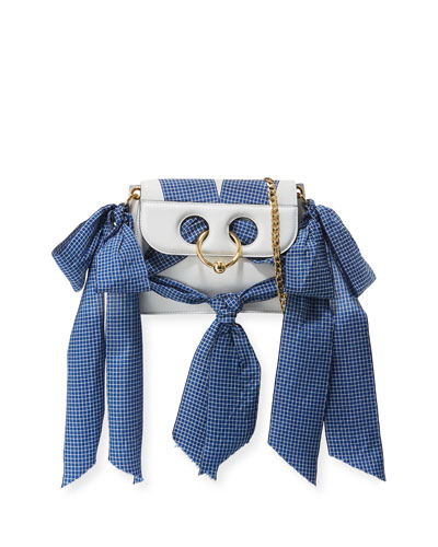 Mini Pierce Ribbon-Trim Bag