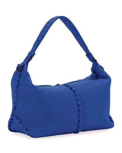 Cervo Medium Leather Shoulder Hobo Bag