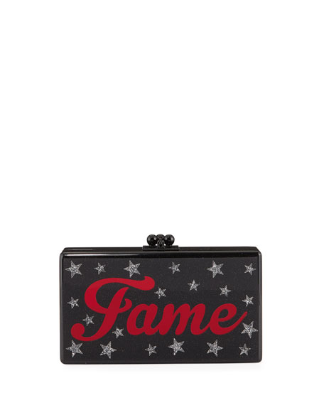 FAME JEAN ACRYLIC CLUTCH BAG