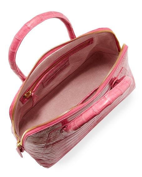 Small Crocodile Zip-Top Dome Bag
