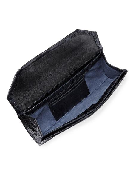 Crocodile Envelope Clutch Bag