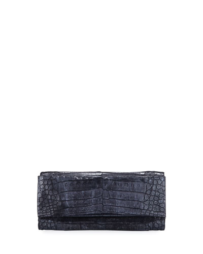 Crocodile Envelope Clutch Bag