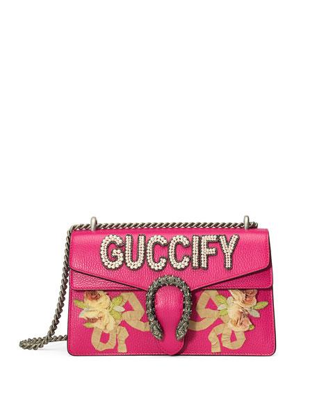 GUCCI Small Embellished Dionysus Shoulder Bag, Pink