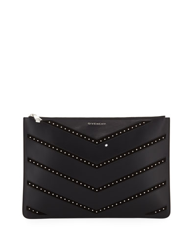 Pandora Medium Studded Chevron Pouch Bag