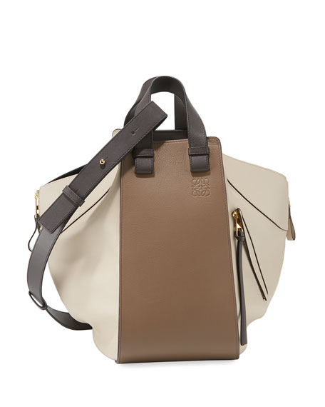 Hammock Colorblock Leather Tote Bag