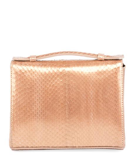 Mini Brief Beaded Snakeskin Shoulder Bag