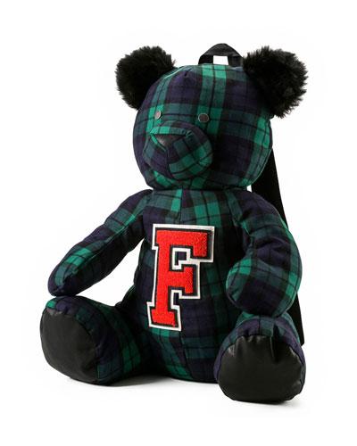 Mascot Bear Plaid Backpack