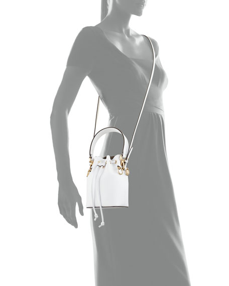 Leather Bucket Bag w/Crossbody Strap