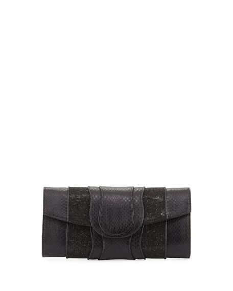 Lindsay Watersnake Clutch Bag