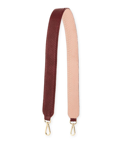 Clon Two-Tone Python Shoulder Strap