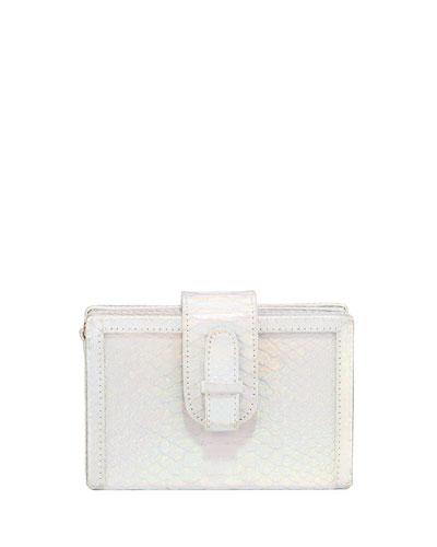 Shiny Iridescent Python Box Bag