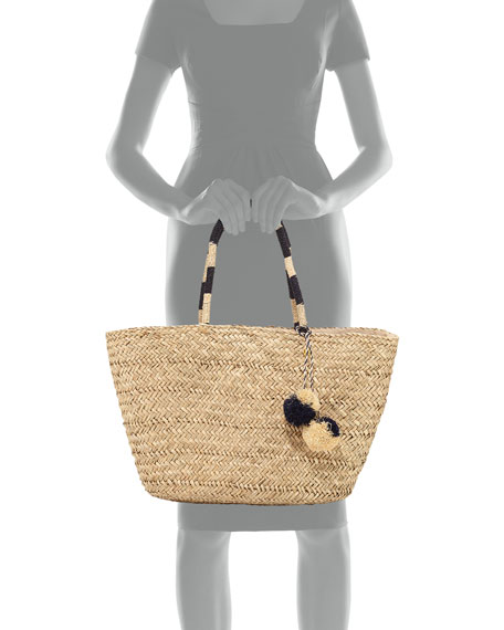 Carried Away Beach Basket with Pompom