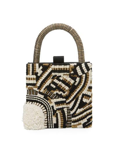 Trasimeno Embroidered Clutch Bag