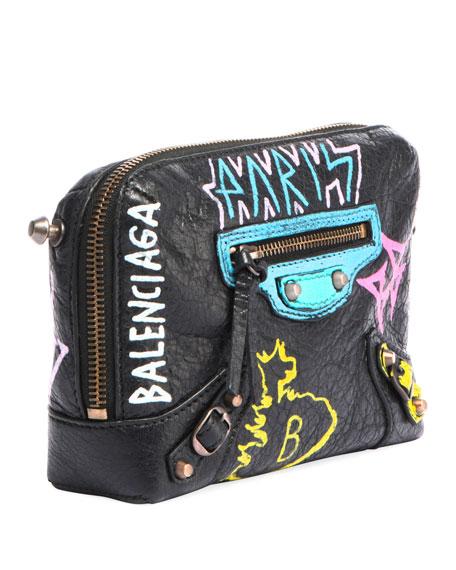Classic Reporter XS Chain Graffiti Crossbody Bag