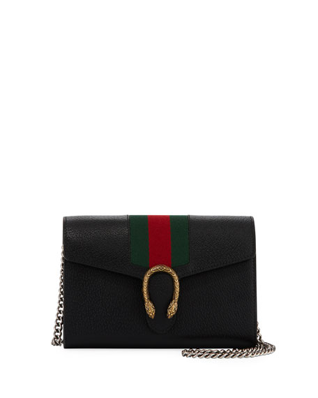 Gucci Dionysus Leather Wallet on a Chain 08900bac5c