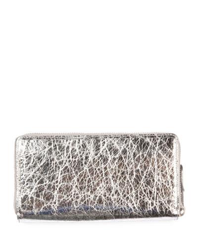 Bazar Crinkled Leather Wallet