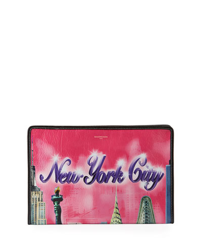 Bazar NYC Leather Pouch Clutch Bag