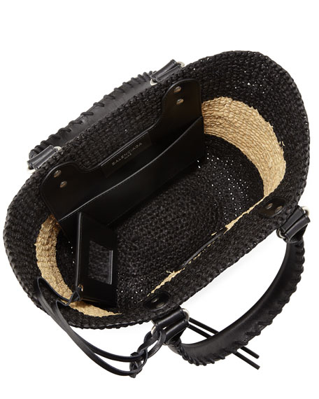 Panier Extra Small Striped Raffia Tote Bag