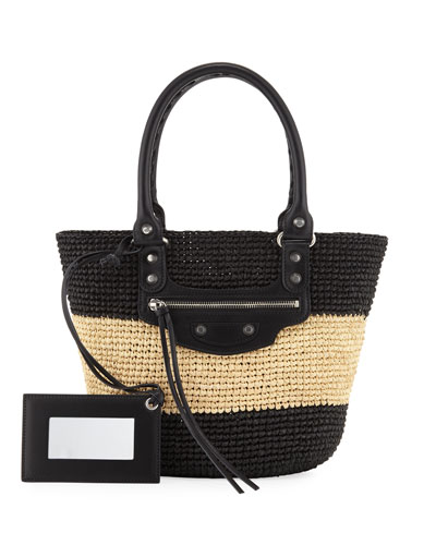 Panier Extra Small Striped Raffia Tote Bag