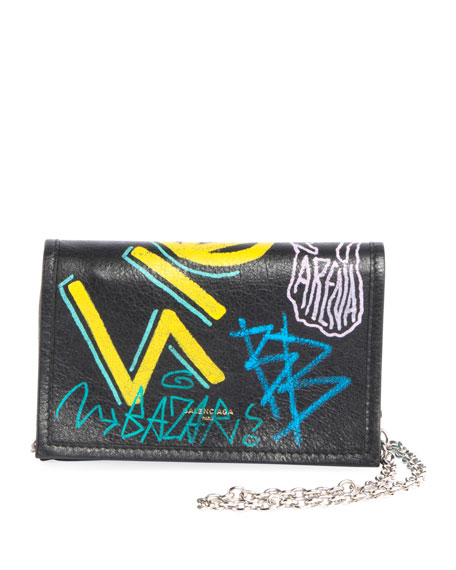 Bazar Leather Chain Shoulder Bag