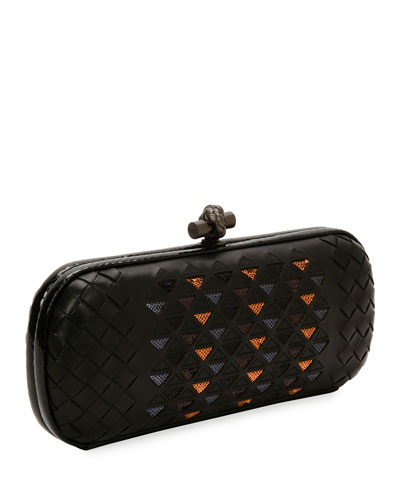 Small Elongated Knit Clutch Bag