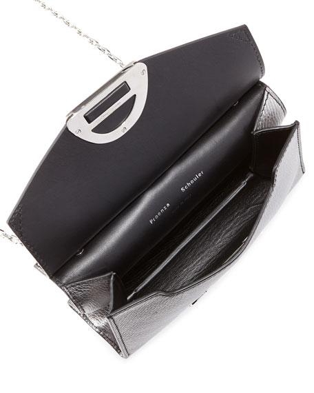 Small Curl Metallic Whipstitch Clutch Bag