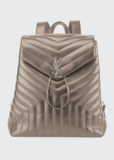 Loulou Monogram Medium Quilted Leather Backpack