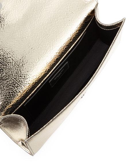 Kate Monogram Crackled Leather Clutch Bag