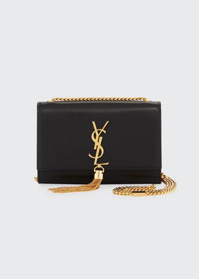Kate Monogram YSL Small Tassel Shoulder Bag with Golden Hardware