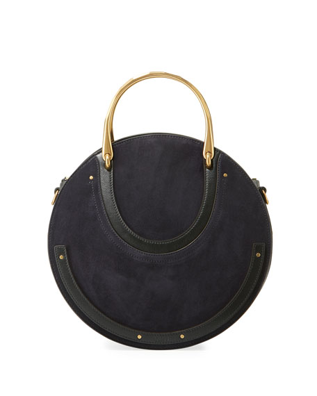 Chloe Pixie Medium Round Suede/Leather Shoulder Bag
