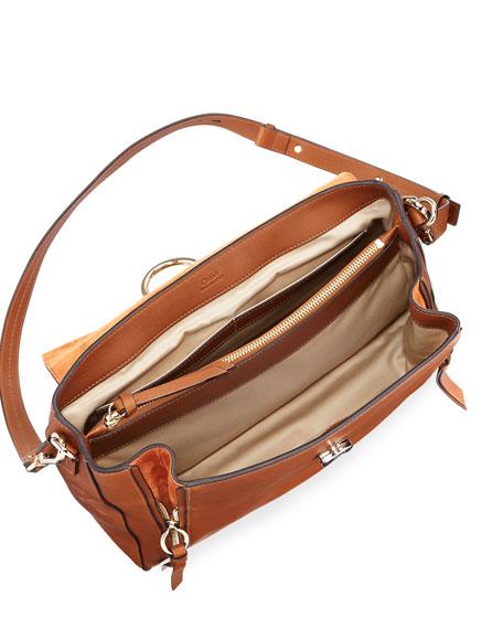 Faye Day Mixed Flap Shoulder Bag
