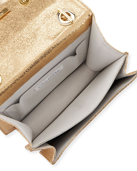 Gardenia Double-Compartment Crossbody Bag