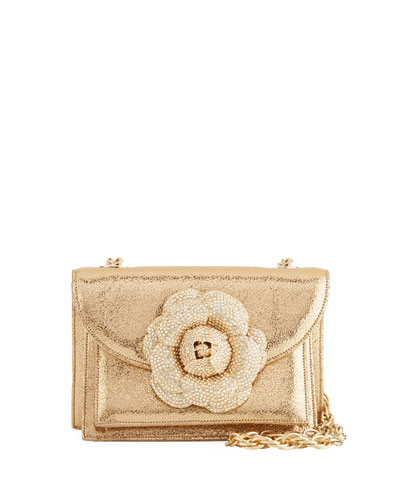 Gardenia Double-Compartment Crossbody Bag