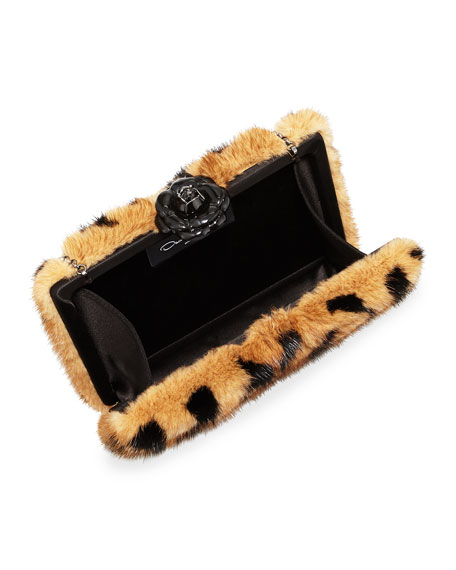 Rogan Mink Fur Clutch Bag