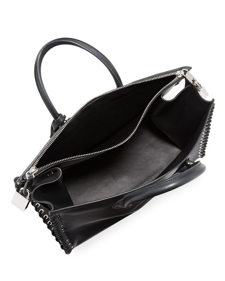 Whipstitch Leather Tote Bag