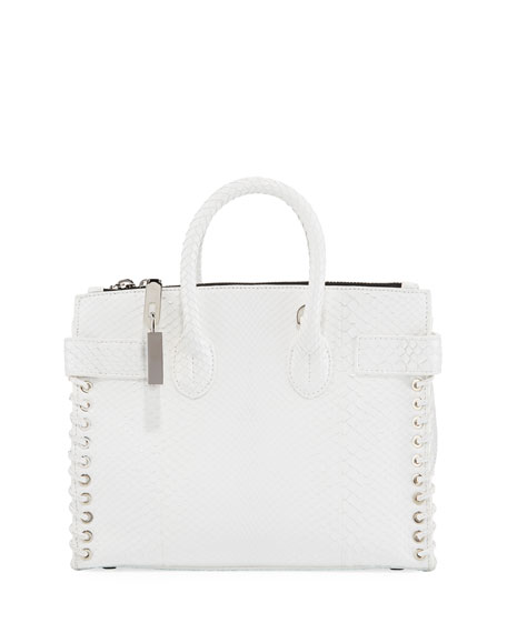 Small Whipstitch Python Tote Bag